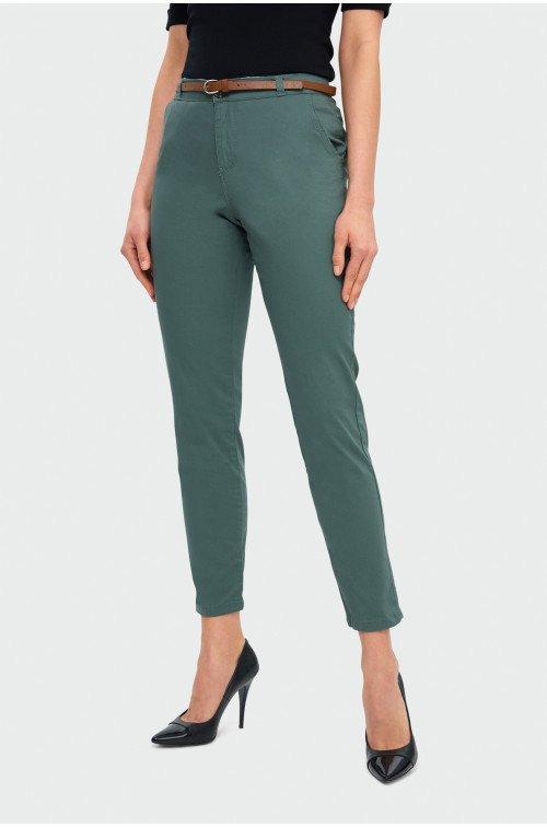 bawełniane spodnie damskie cygaretki